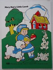 Vintage Connor Toy Puzzle Mary Had a Little Lamb Wood 10 Piece 8411-3