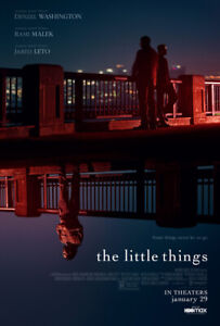 Little Things (2021) D/S Orig Movie Poster 2-Sided 27x40 Denzel Leto Malek NEW