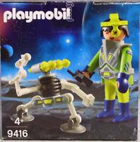 Playmobil Ei 9416 Space-Agent mit Roboter NEU