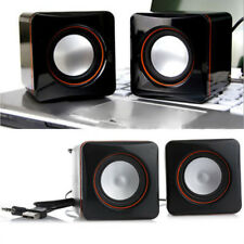Portable USB 2.0 Mini Stereo Speaker Music Player Radio PC Laptop MP3/4/5 Black
