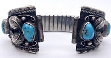 Navajo Sterling Silver Signed Teresa Archibeque Watch Band