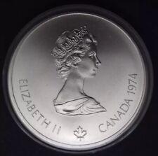 Queen Elizabeth Canadian 1976 Montreal Olympiade XXI $5 Silver Coin w/case 1974