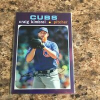 2020 Topps Heritage Craig Kimbrel THC-194 Chrome Purple Refractor Chicago Cubs