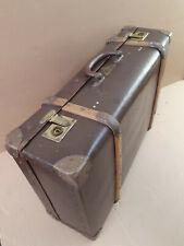 Großer alter Reise Koffer PRIMOSA 1930er Überseekoffer Holzleisten