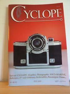 Revue CYCLOPE n°49-50 2000 * PHOTO SOUS MARINE GIBDOUNY APPAREILS INCLASSABLES