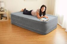 Intex Comfort Dura-Beam Elevated Twin Airbed Mattress w/ Built-In Pump | 64411E