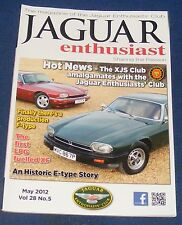 JAGUAR  ENTHUSIAST MAY 2012 - AN HISTORIC E-TYPE STORY