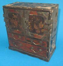 boite bijoux japonais parqueterie suzuribako japanese lacquer jewelry box