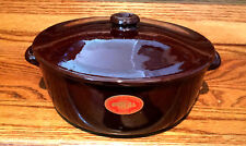 PIRAL ITALY GLAZED TERRA COTTA DUTCH OVEN BAKING DISH WITH LID MINT LABEL