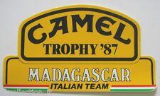 ADESIVO AUTO MOTO anni '80 / Sticker CAMEL TROPHY '87 MADAGASCAR (cm 16 x 9)