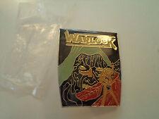 Vintage  WARLOCK  Unused  80s BADGE    pin   heavy metal  doro patch
