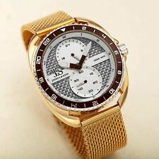 Men's Joshua & Sons JX136YG Multifunction Dual Sub Dial Stainless Steel Watch