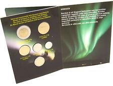 Finnland 16,60 Markkaa 2000 KMS 10 Penniä bis 10 Mark Nordlicht im Folder