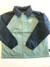 Vans New Torrey Kids Collared Button Down Lightweight Jacket Youth Size 5/M