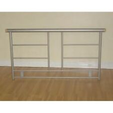Madeline 5ft Kingsize Strong Metal Headboard in Silver, Fixes to Divan Bases
