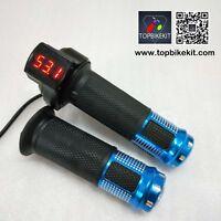 24V/36V/48V/60V/72V Twist Grips Throttle Handlebars with LED Display for ebike