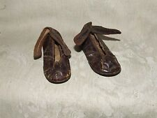 Tiny Antique Leather Baby Shoes from a Virginia Estate Pre Victorian Hand Made