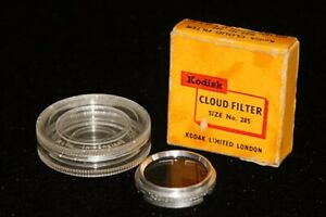 Vintage Kodak Cloud Filter Size No. 285 Fits Lens Mounts 25.5 - 28.5mm