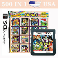 NEW 500 in 1 Video Game Card For Nintendo NDS DS NDSL NDSi 2DS 3DS FAST SHIP USA
