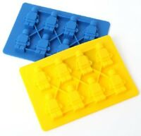 Lego Brick Silicone Minifigure Chocolate Figures Ice Cube Tray mould Silicone