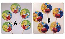 12 x Personalised Sesame Street Birthday Cup Cake Toppers Double Sided