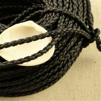 PU Leather Cord Braided Multi-color Thread String Cords 3.5mm DIY Craft Making