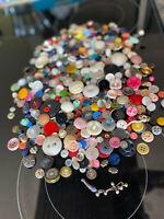 Large Vintage and Antique Buttons lot. Estate find.  Bakelite, celluloid, MOP