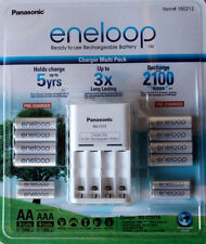 Genuine Panasonic Eneloop Rechargeable Batteries NiMH 8-AA 4-AAA + Charger AUS