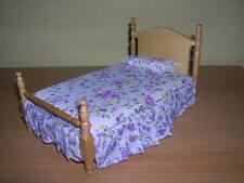 Creal Bett Holz natur / Single Bed natural oak Puppenstube 1:12 Art 27450
