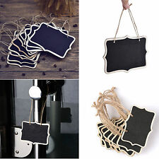 10Pcs Mini Wooden Chalkboard Blackboard Hanging Message Table Number Party Decor