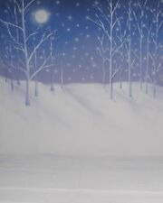 10x20 Hand-Painted Canvas Scenic Photo Backdrop Background Winter Trees