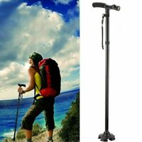 Available 2 Style Safe Cane All-Terrain Pivoting Base Folding Walking Stick Cane