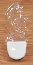 Unbranded / Generic Clear & White Plastic Moon & Stars Child's Night Light *READ