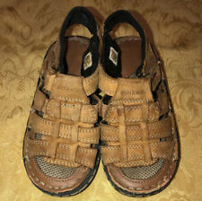 OshKosh B'Gosh Toddler Boys Beige Brown Leather Sandals 8M