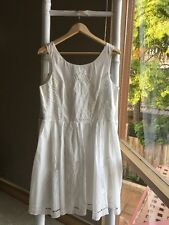 Gorgeous •Alannah Hill• White Embroidered Dress Size 12 M EUC