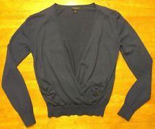 Banana Republic Women's Navy Blue Long Sleeve Wrap V-Neck Sweater - Size: XS