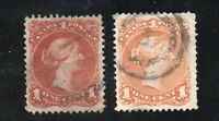Canada - Unitrade# 22 (crease)  & 23 Used / Both VF  - Lot 0519049
