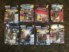 LOT OF 8 VINTAGE STAR TREK ACTION FIGURES , GORN KUAN CAPTAIN PICARD