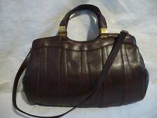 """sac """"vintage"""" forme cabat tout CUIR  marron"""