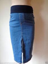 Denim Under Bump Maternity Skirts
