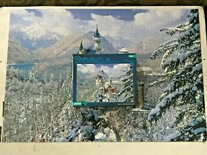 """Winter at Neuschwanstein Castle 2000 Pc Puzzle Germany  38""""x 26"""" - 100% Complete"""