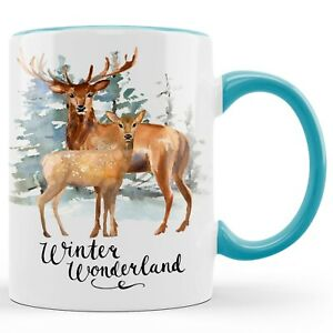 Weihnachtstasse Rentier Keramik Geschenk Kaffeebecher Teetasse Hirsch Geburtstag