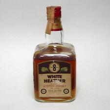 Vecchia bottiglia scotch whisky white heather de luxe 8 anni cl.75 collezione
