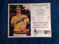 Rollie Fingers Signed Autographed HOF Induction Day Card Auto PHOTO PICTURE