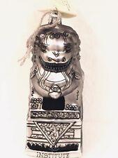 Jennifer Ellsworth Landmarks Mia Silver Guardian Lion Hand Blown Glass Ornament