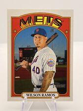 2021 Topps Heritage Wilson Ramos High Number Short Print #417 SP Mets