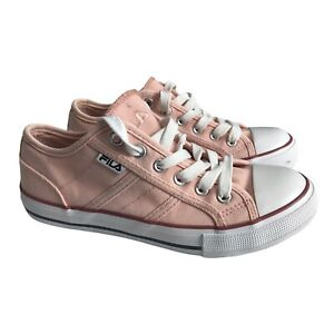 Fila Size 4 Eur 37 Pink Pump Style Lace Up Trainers Sneakers