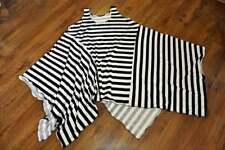 Layered Look Refined Asymmetric Zipfel-Kleid Stripes White XL, XXL,