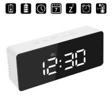 Mirror Digital LED Display Desk Table Clock Temperature Alarm Modern Home Decor
