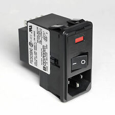 1x CORCOM 10A 120/250Vac Power Entry Module with Switch. IEC C14
